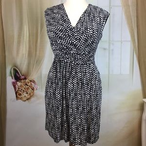 Tommy Hilfiger Black Polka Dot Sleeveless Dress